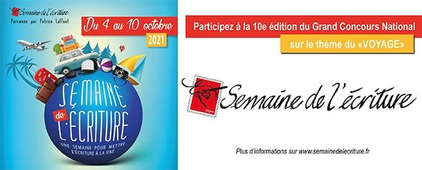 """Participez à la 10e édition de """"La Semaine de l'Ecriture"""" !"""