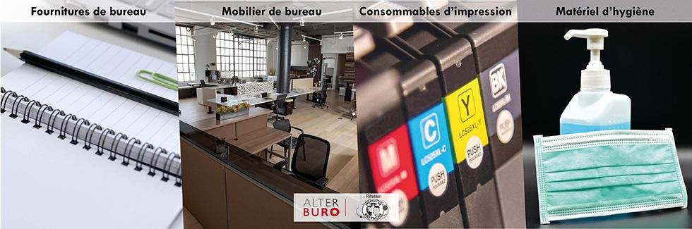 Fournitures de bureaux Mobilier Cartouches Consommables Hygiènes